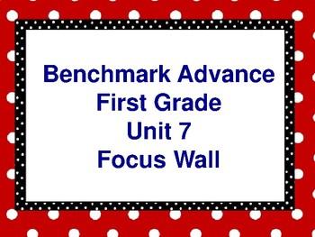 Benchmark Advance First Grade Focus Wall- Unit 7
