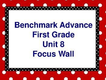 Benchmark Advance First Grade Focus Wall- Unit 8