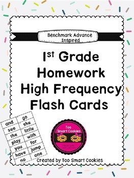 Benchmark Advance First Grade High Frequency Take-Home Flash Cards