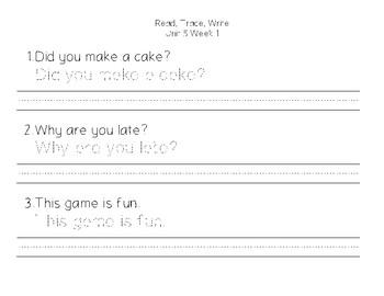 Benchmark Advance First Grade - Read, Trace, Write Unit 5 - Unit 10