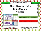 Benchmark Advance First Grade Scope & Sequence For Units 1-10