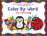 Benchmark Advance First Grade Spelling COLOR BY WORD Units 1-5