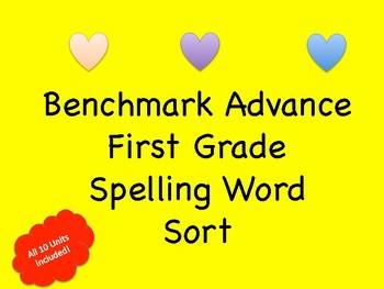 Benchmark Advance First Grade Spelling Word Sort