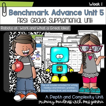 Benchmark Advance First Grade Unit 5 Bundle #2