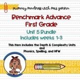 Benchmark Advance -  First Grade Unit 5 Bundle  Weeks 1-3