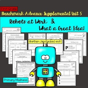 Benchmark Advance - First Grade UNIT 5 Bundle #1!