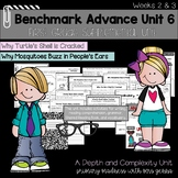 Benchmark Advance - First Grade UNIT 6 with Depth and Complexity Weeks 2 and 3