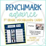 Benchmark Advance Vocabulary Cards 1st Grade Bundle