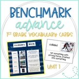 Benchmark Advance 1st Grade Vocabulary Word, Picture & Definition Cards Unit 1