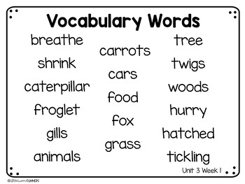 Benchmark Advance First Grade Vocabulary Word, Picture & Definition Cards Unit 3