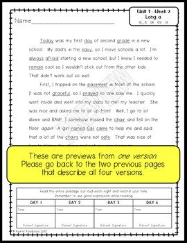 Benchmark Advance Fluency Passages 3rd Grade (Ca. and National)