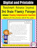 Benchmark Advance Fluency Passages and Comprehension- 3rd Gr. (Ca. and National)