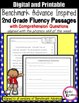 Benchmark Advance Fluency Passages for 2nd Grade - A Growing Product!