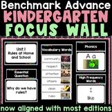 Benchmark Advance Kindergarten Focus Wall  - Units 1-10 wi