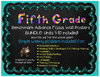 Benchmark Advance Focus Wall Posters for FIFTH Grade (California)