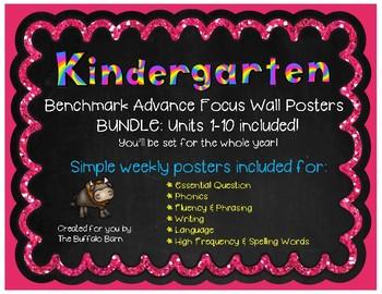 Benchmark Advance Focus Wall Posters for KINDERGARTEN (California)