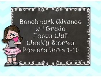 Benchmark Advance Focus Wall Weekly Story Posters 2nd Grade