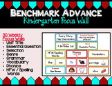 Benchmark Advance Kindergarten Focus Wall  - Units 1 - 10 (California)