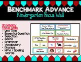 Benchmark Advance Kindergarten Focus Wall  - Units 1 - 10