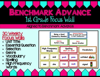 Benchmark Advance Focus Wall for First Grade