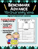 Benchmark Advance Fourth Grade Weekly Word Lists with Voca