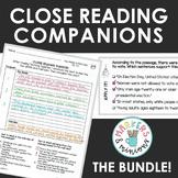 Benchmark Advance Fourth Grade Close Reading Companions BUNDLE! (Units 1-10)
