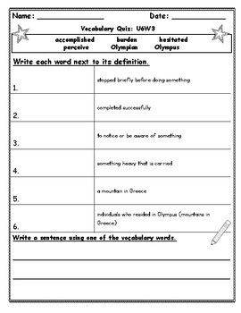 Benchmark Advance Fourth Grade Weekly Vocabulary Quizzes (National)