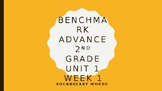 Benchmark Advance Grade 2 Unit 1 Week 1 Vocabulary PowerPoint