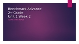 Benchmark Advance Grade 2 Unit 1 Week 2 Vocabulary PowerPoint