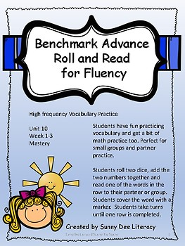 Benchmark Advance Grade 2 Unit 10 Roll and Read for High Frequency Vocabulary