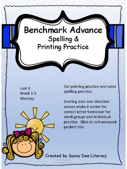 Benchmark Advance Grade 2 Unit 6 Spelling and Printing Practice