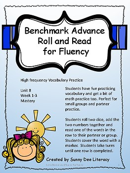 Benchmark Advance Grade 2 Unit 8 Roll and Read High Frequency Vocabulary