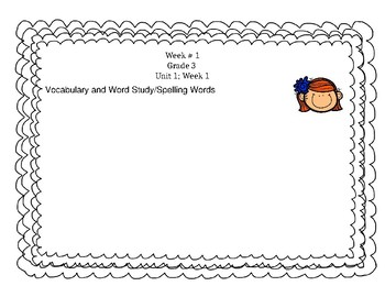 Benchmark Advance Grade 3; Vocabulary and Word Study/Spelling