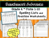 Benchmark Advance* Grade 4 Spelling Lists and Practice Wor