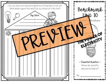 Benchmark Advance Grade 4 - Unit 10 Reading Brochure / Bookmark