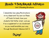 Benchmark Advance Grade 4 - Unit 3 Reading Brochure / Bookmark