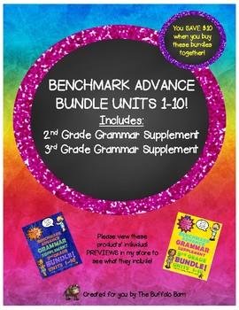 Benchmark Advance Grammar Bundle for 2nd & 3rd Grade!