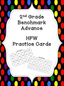 Benchmark Advance HFW Practice Cards (2nd Grade)