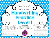 Benchmark Advance Handwriting Practice Level 1 (Frieze & S