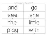 Benchmark Advance High Frequency Words Game Unit 1 & Unit 2