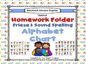 3h. Benchmark Advance Sound Kinder Spelling & Frieze ABC Homework Folder