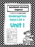 1a. Benchmark Advance Kindergarten Morning Work Day 1-20 & Unit 1