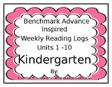 Benchmark Advance Inspired Reading Logs Kindergarten Units 1 - 10