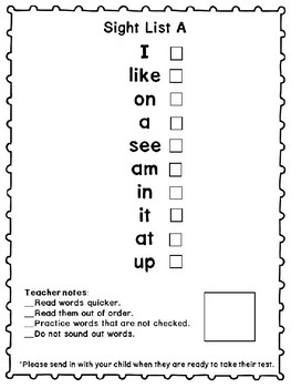 Benchmark Advance Inspired Kinder Take Home Sight Word Book (38 + More)
