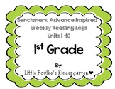 Benchmark Advance Inspired Weekly Reading Logs First Grade