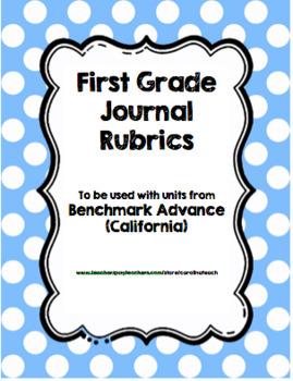 Benchmark Advance Journal RUBRIC (California)