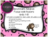 Benchmark Advance KINDERGARTEN Focus Wall Posters UNITS 1-10 BUNDLE!!