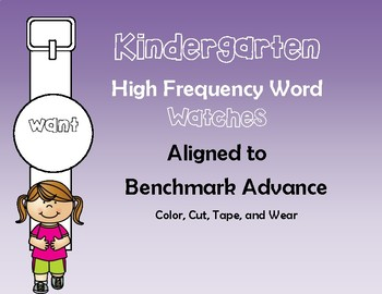 Benchmark Advance Kinder High Frequency Word Watches