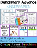 Benchmark Advance-Kindergarten (Focus Wall & High Frequency Words)