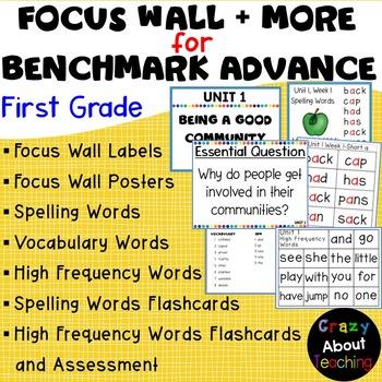 1st Grade Benchmark Test Worksheets Teaching Resources TpT